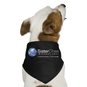Dog Bandana w/ Sister Cities International WHITE Logo - Dog Bandana