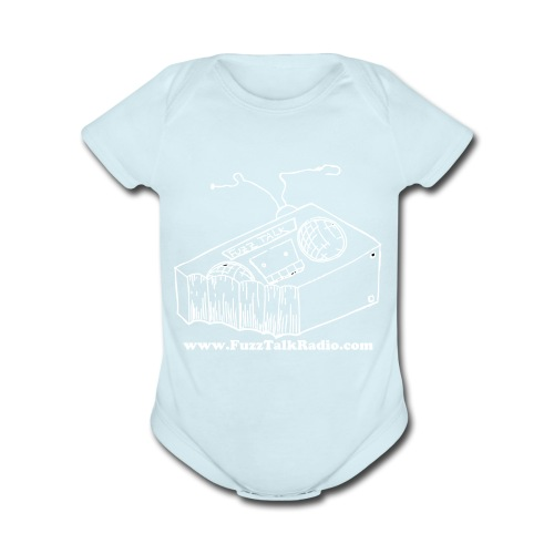 FTR White Logo w/ Web Address - Organic Short Sleeve Baby Bodysuit