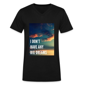 BTS - No Dreams - Men's V-Neck T-Shirt by Canvas