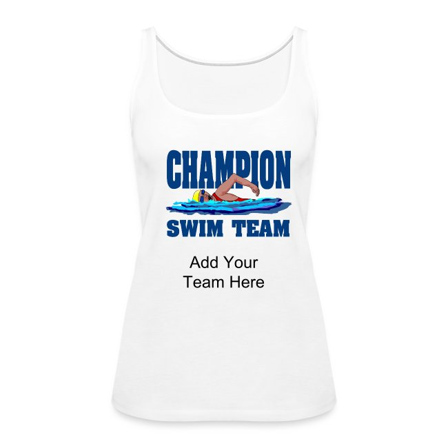 3e6b37b2d43d0 Personalized Souvenirs | Womens Swim Team Premium Tank Top - Women's ...