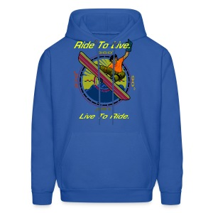 Men's Snowboarder Hooded Sweatshirt - Men's Hoodie