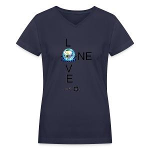 One Love FM V - Women's V-Neck T-Shirt