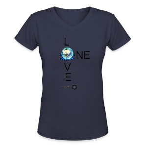 One Love FM V - Women's V-Neck T-Shirt