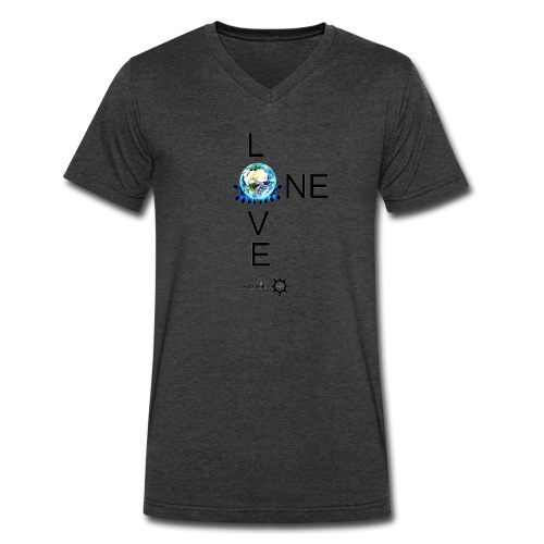 One Love Male V - Men's V-Neck T-Shirt by Canvas