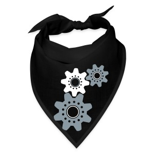 gears (white and silver) - Bandana