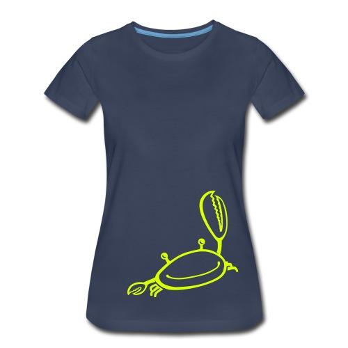 crab pinch (neon yellow) - Women's Premium T-Shirt