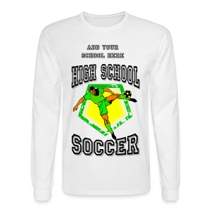 High School Soccer Men's Long Sleeve T-Shirt - Men's Long Sleeve T-Shirt