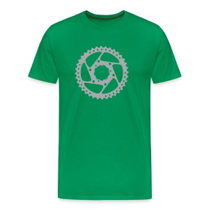 bicycle chainring (silver) - Men's Premium T-Shirt