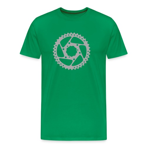 bicycle chainring (silver) - Men's Premium T-Shirt