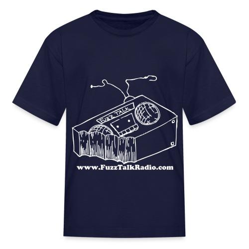 FTR White Logo w/ Web Address - Kids' T-Shirt