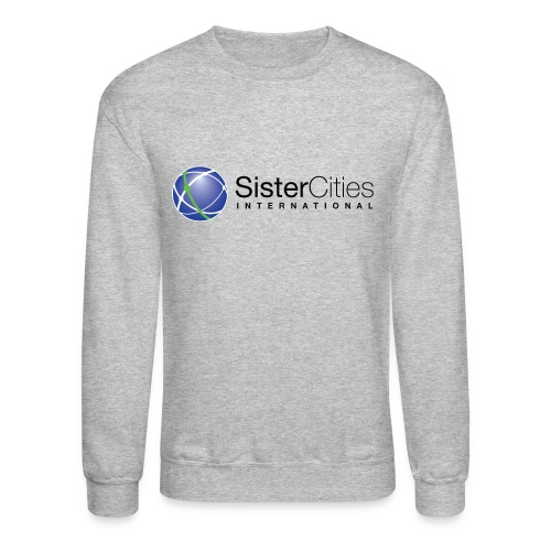 Men's Crewneck Sweatshirt w/ Sister Cities International COLOR Logo - Crewneck Sweatshirt