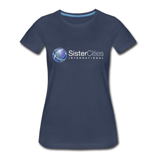 Women's Premium T-Shirt w/ Sister Cities International WHITE Logo - Women's Premium T-Shirt