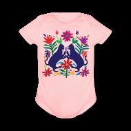 Baby Bodysuits ~ Baby Short Sleeve One Piece ~ Otomi Cats Onesie