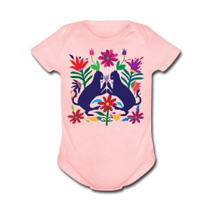 Otomi Cats Onesie - Short Sleeve Baby Bodysuit