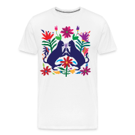 T-Shirts ~ Men's Premium T-Shirt ~ Otomi Cats Fitted Tee