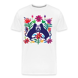 Otomi Cats Fitted Tee - Men's Premium T-Shirt