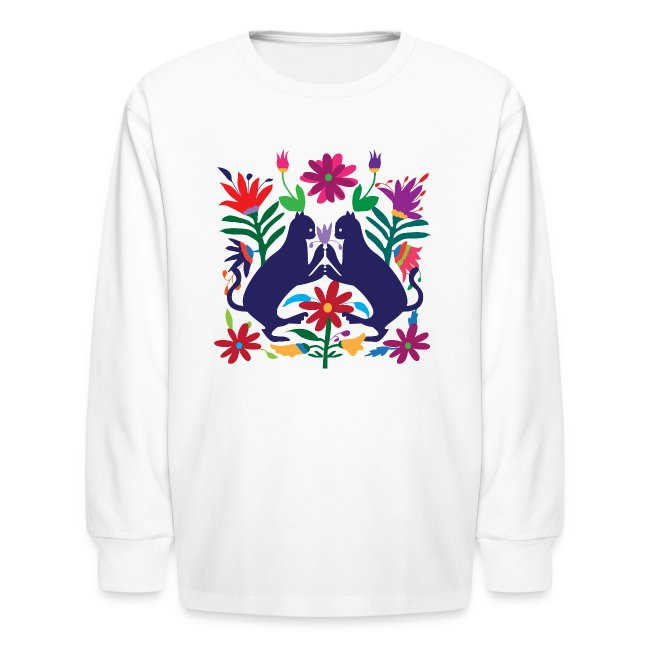 Otomi Cats Kids Long Sleeve Shirt