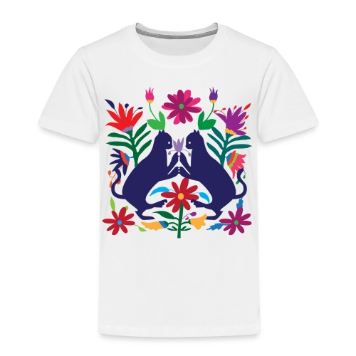 Otomi Cats Kids Toddler Tee - Toddler Premium T-Shirt