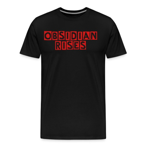 Red and Black Obsidian T-shirt - Men's Premium T-Shirt