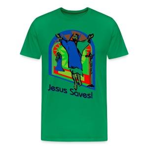 Jesus Saves Men's Premium T-Shirt - Men's Premium T-Shirt