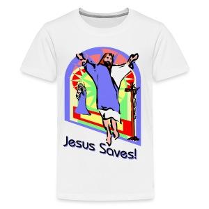 Jesus Saves Kid's Premium T-Shirt - Kids' Premium T-Shirt