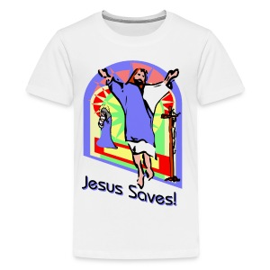 Jesus Saves Kid's Premium T-Shirt - Kids' Premium T-Shirt