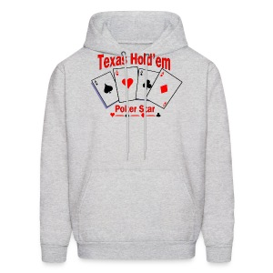 Texas Hold'em Poker Star Men's Hooded Sweatshirt - Men's Hoodie