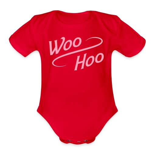 Baby Woo-Hoo One Piece - Organic Short Sleeve Baby Bodysuit