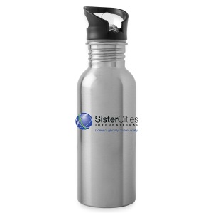 Aluminum Water Bottle w/ Sister Cities International Logo - Water Bottle