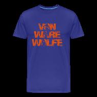 T-Shirts ~ Men's Premium T-Shirt ~ Von Ware Wolfe - Mens - 3XL - 4XL