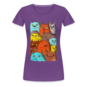 The Cats of Meow Fitted Tee - Women's Premium T-Shirt