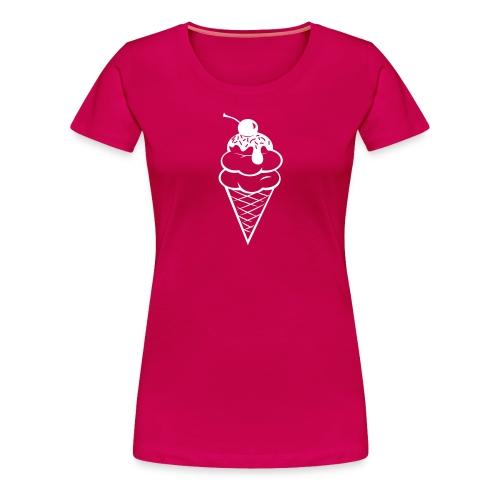 Double Scoop Tee - White - Women's Premium T-Shirt