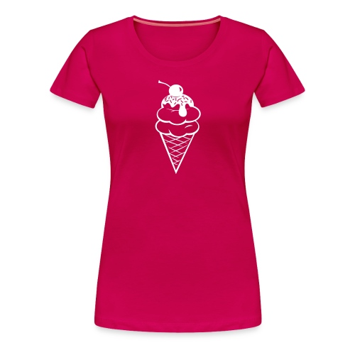 Double Scoop Tee - White - Women's Premium T-Shirt