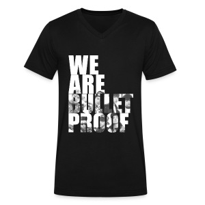 BTS - Bulletproof - Men's V-Neck T-Shirt by Canvas