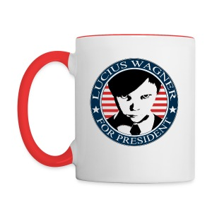LUCIUS W FOR PRESIDENT C - Contrast Coffee Mug