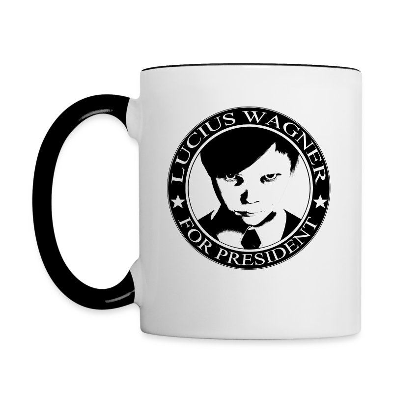LUCIUS W FOR PRESIDENT BW - Contrast Coffee Mug