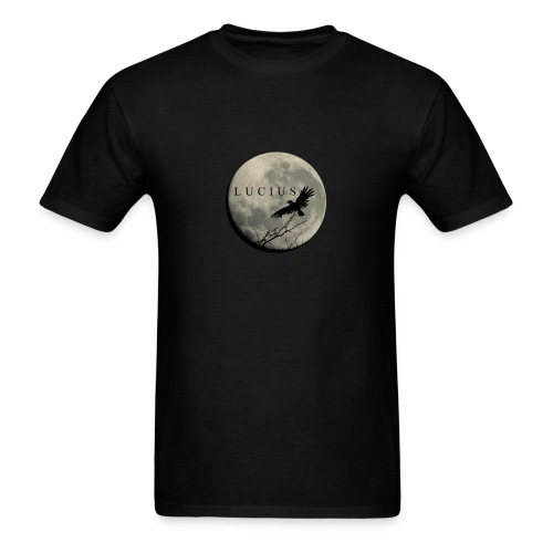 RAVEN AND MOON WITH LUCIUS LOGO - Men's T-Shirt