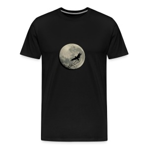 RAVEN AND MOON WITH SMALL LUCIUS LOGO - Men's Premium T-Shirt