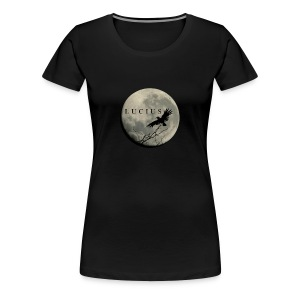 RAVEN AND MOON WITH LUCIUS LOGO - Women's Premium T-Shirt