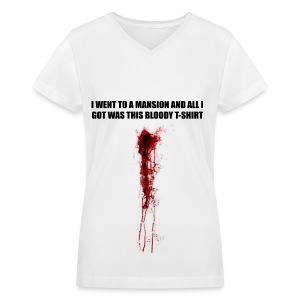 I WENT TO A MANSION - Women's V-Neck T-Shirt