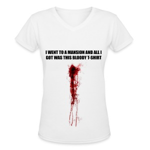 I WENT TO A MANSION - Women's V-Neck T-Shirt