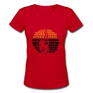 Natural&Proud - Women's V-Neck T-Shirt