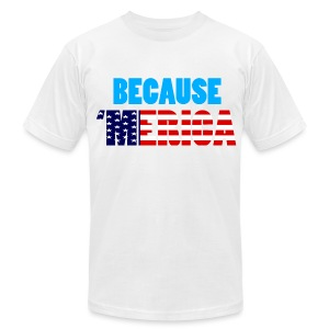Why Mustang? because 'Merica - Men's T-Shirt by American Apparel