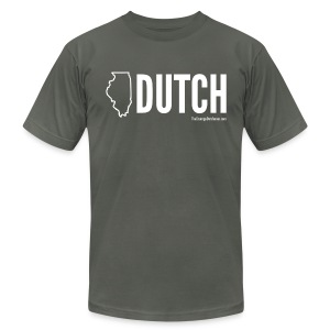 Illinois Dutch (White Text) - Men's T-Shirt by American Apparel