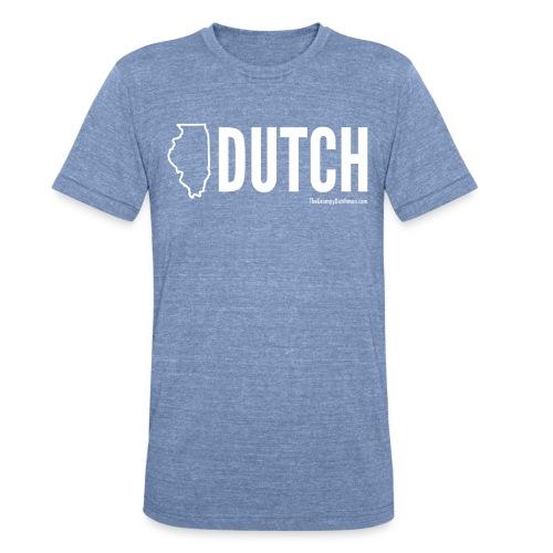 Illinois Dutch (White Text) - Unisex Tri-Blend T-Shirt