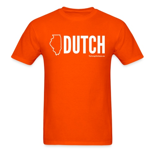 Illinois Dutch (White Text) - Men's T-Shirt