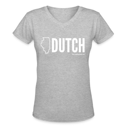 Illinois Dutch (White Text) - Women's V-Neck T-Shirt