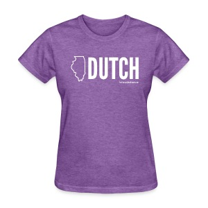 Illinois Dutch (White Text) - Women's T-Shirt