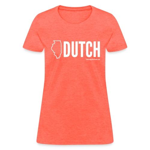 Illinois Dutch (White Text) - Women's T-Shirt