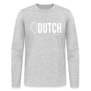 Illinois Dutch (White Text) - Men's Long Sleeve T-Shirt by Next Level